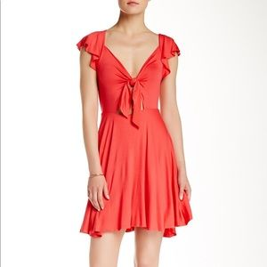 BCBGeneration Teaberry Cutout Bow Knit Dress